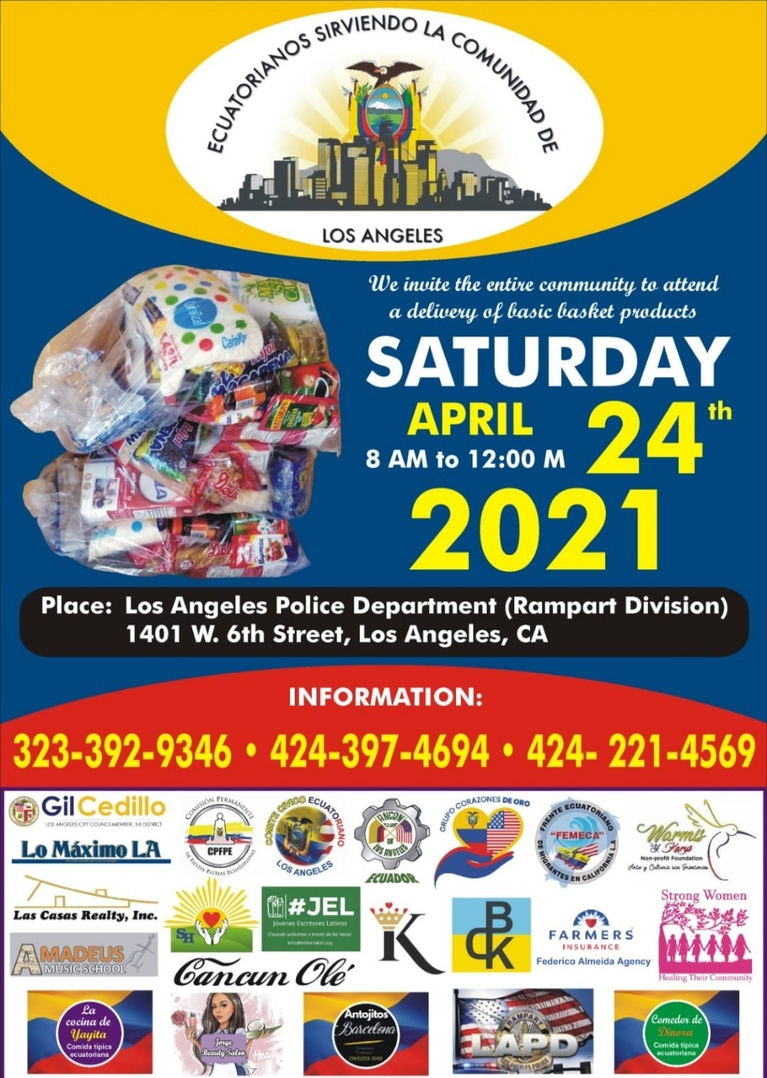 LAPD April 24th Food Giveaway